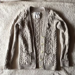 Abercrombie & Fitch cable knit cardigan